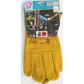 Werkhandschoen geel gevoerd
