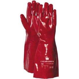 werkhandschoen pvc rood 40cm cat3