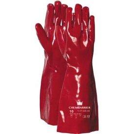 werkhandschoen pvc rood 35cm cat3