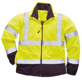 Port-West Twee kleuren fleece vest yellow/navy