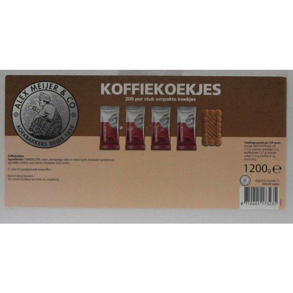 Alex Meijer koffiekoekjes 190 stuks melange 4 soorten