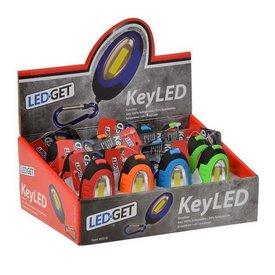 LEDGET sleutelhanger/ledlamp (12 in display) p.p.st.