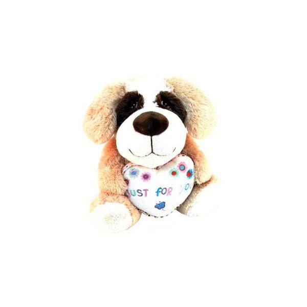 Hond met hart 24 cm