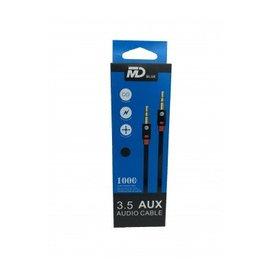 MD BLUE Aux Kabel 1m -zwart-