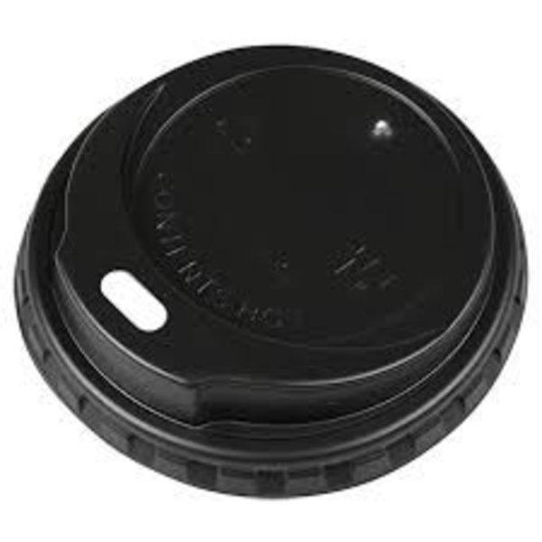 deksel koffie drinkbeker zwart 50 stuks