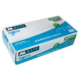 M-Safe 4520 disposable nitril handschoen poedervrij  mt 7 T/m 11