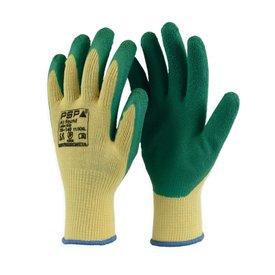 werkhandschoen PSP 10-140  Latex Grip geel/groen