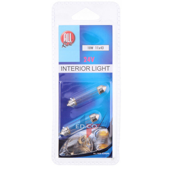 24V 10W buislamp AllRide blister 2st