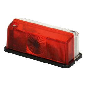 Breedtelamp rechthoek rood/wit 12v, op blister