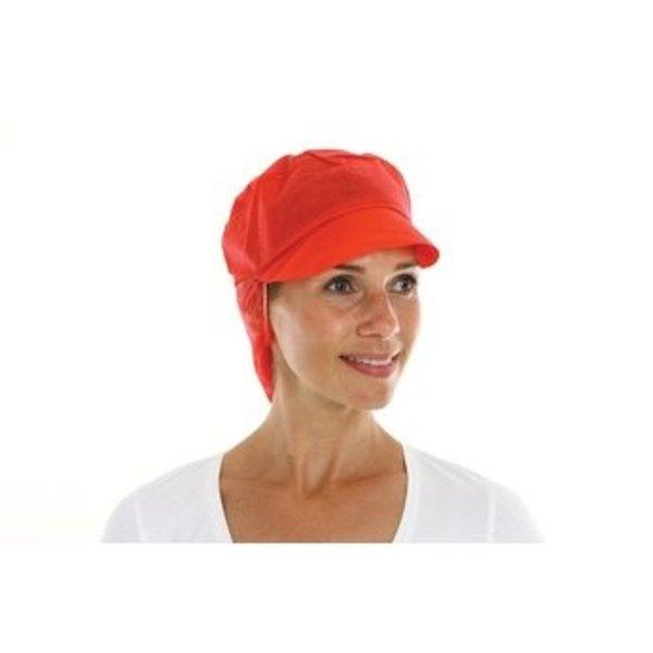 disposable pet met klep + haarnetje rood 1 x 100 stuks