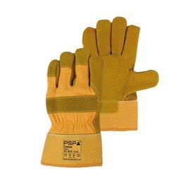 PSP splitgele winterhandschoen met gele kap foam gevoerd