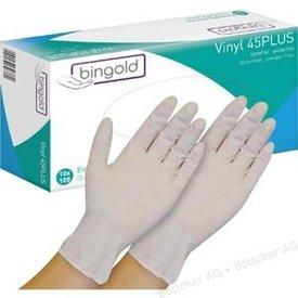 bingold vinyl handschoen poedervrij 100st mt 9(L)