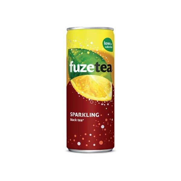 Fuze Tea Sparkling Black Tea 24 x ,025cl