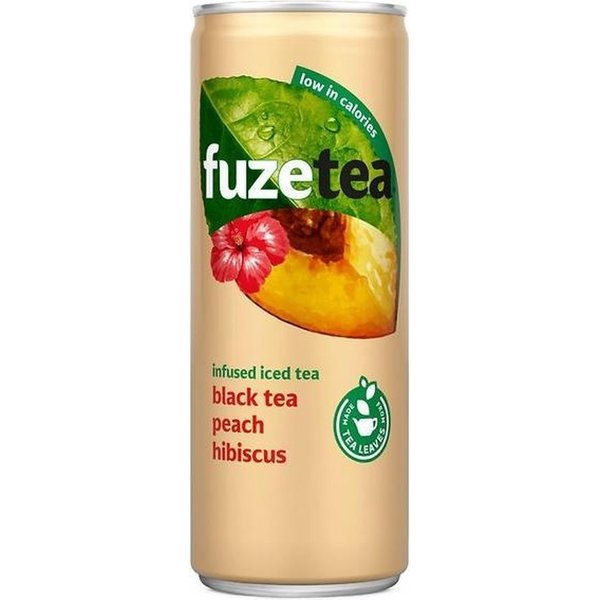 Fuze Tea Black Tea Peach Hibiscus 24 x ,025cl