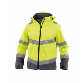 Dassy softshell Malaga High visability yellow/grey