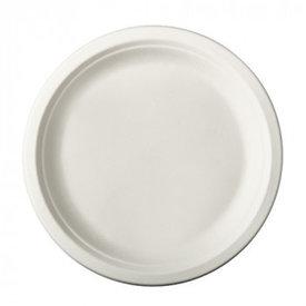 1-vaks bord 23cm suikerriet 50 stuks wit magnetronbestendig
