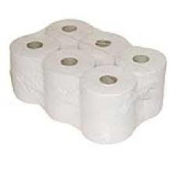 6 papierrol midi met koker 1 lgs 20cm breed x 300m wit