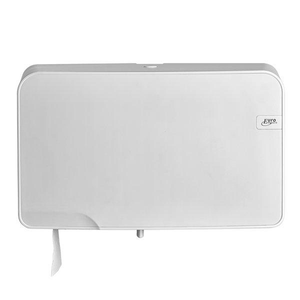 Euro White Quartz mini duo jumbo toiletrolhouder
