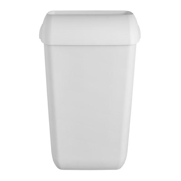 Afvalbak kunststof mat wit 23 ltr staand of hangend