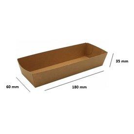 karton bakje c bruin  A18 100st (gehaktstaaf of 2 frikandellen)