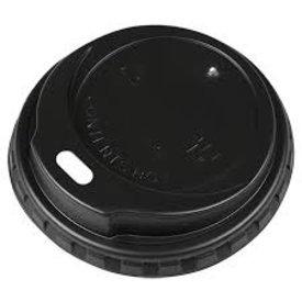 deksel koffie 150/180cc drinkbeker zwart 1000st