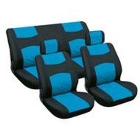 stoelhoesset 6-delig blauw/zwart