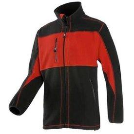 Sioen Fleece jack SEPP 611Z rood/zwart