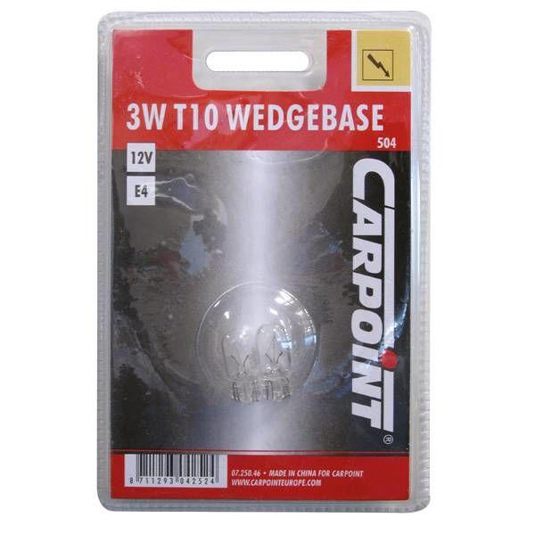 12v3w wedge carpoint 2 stuks