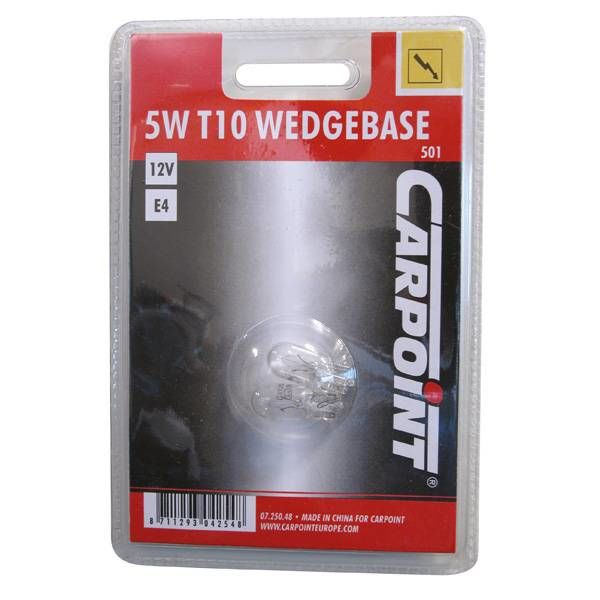 12v5w wedge carpoint 2 stuks