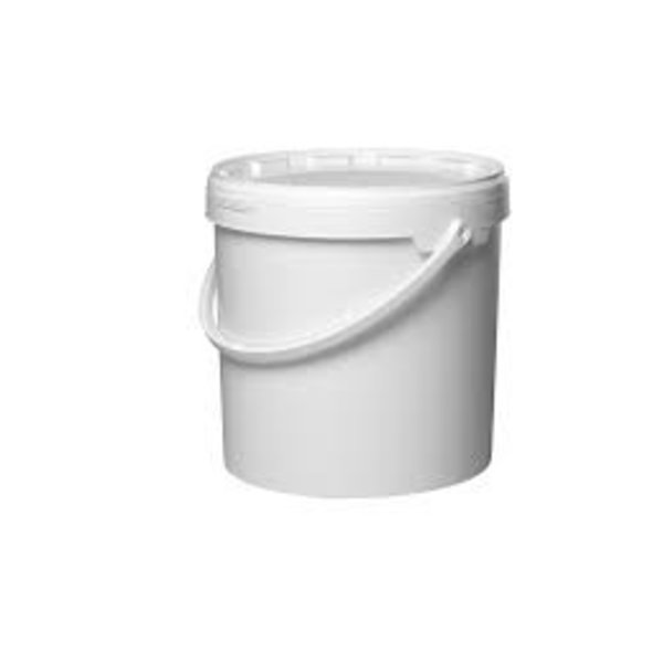 emmer wit 10l met deksel