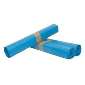 afvalzak sterko hdpe, blauw 80x110 cm 25mµ