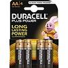duracel alkaline plus power duralock aa 4st nieuw
