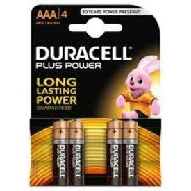 duracel alkaline plus power duralock aaa 4st nieuw