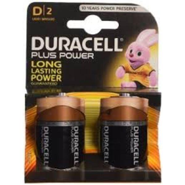 duracel alkaline plus power duralock r20 d-size 2 st nieuw