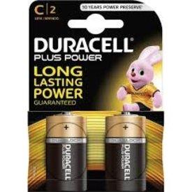 duracel alkaline plus power duralock r14 c-size 2st nieuw