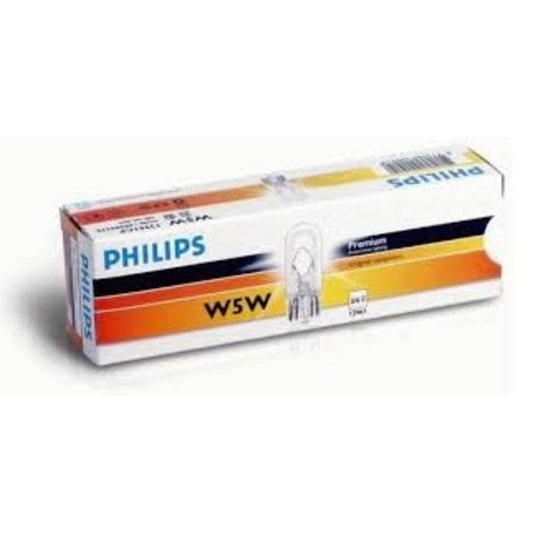 12c w5w wedge philips doosje 10st