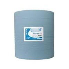 poetspapier 400 meter blauwe rol 3-lgs  37cm breed