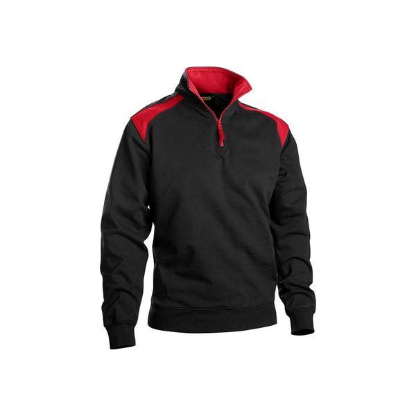 Bläkläder Sweatshirt zwart/rood