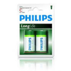 philips longlife r 14 c-size
