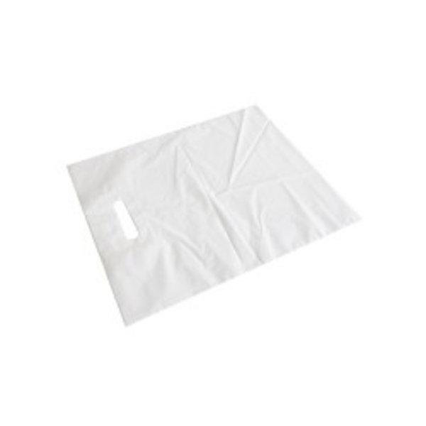 Blanco draagtas LDPE groot 500 stuks