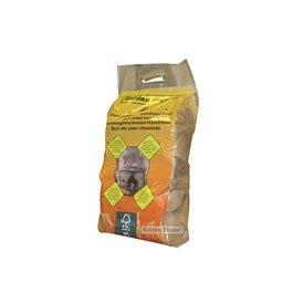 zak openhaardhout gedroogd plastic zak  (pallet 77 zakken)