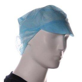 pet met klep + haarnetje blauw 1 x 100 stuks