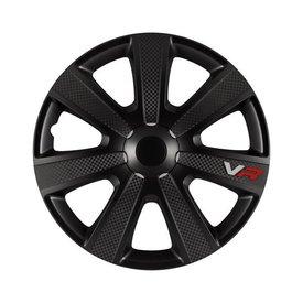wieldoppenset, 4 st, VR Carbon, 16 inch black