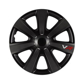 wieldoppenset, 4 st, VR Carbon, 14 inch black