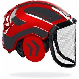 Protos vh-helm refl. rood/grijs compleet