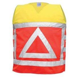 verkeersregelaarsvest en471 oranje/geel m/l