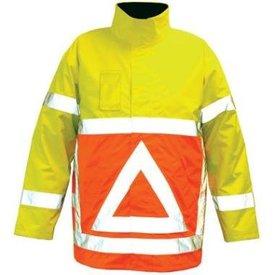 m-wear verkeersgelaarsjas 0925 oranje/geel