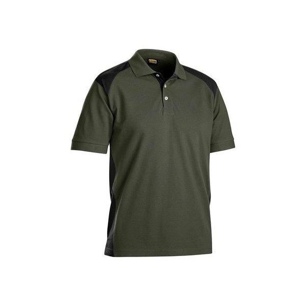 Bläkläder polo shirt 3324 armygroen/zwart maat: L