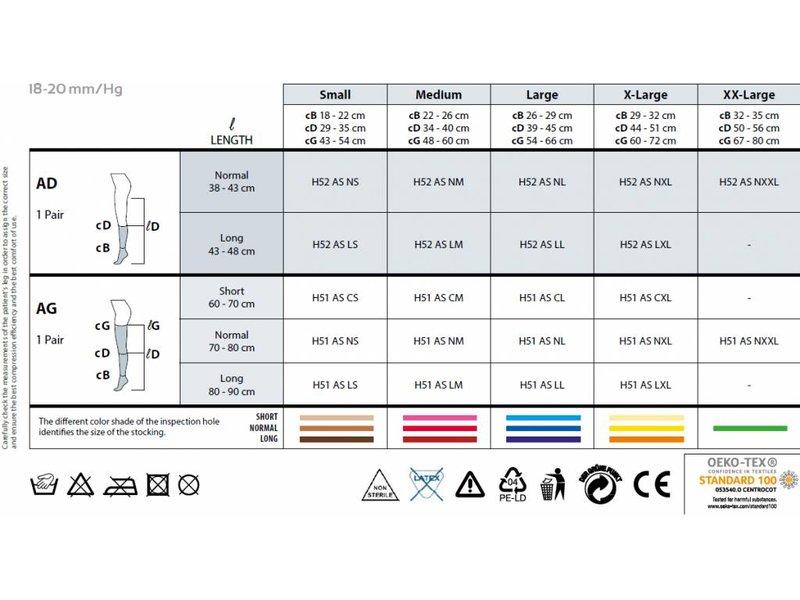 Sanyleg Antiembolism Stockings AntiRutsch - AG Schenkelstrümpfe 18-20 mmHg