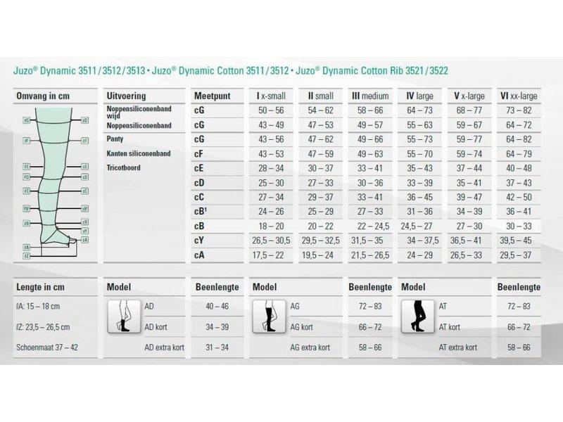 Juzo Dynamic Cotton AG/H Schenkelstrumpf mit Hüftbefestigung